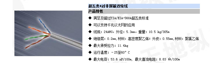 CC61004/超五类网线,可以支持千兆以太网的应用。清华同方CC61004五类线介绍。